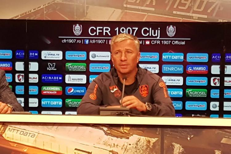 Dan Petrescu despre meciul cu Astana: E cel mai greu moment de când sunt la CFR Cluj. Astana nu se compara cu Steaua, Viitorul