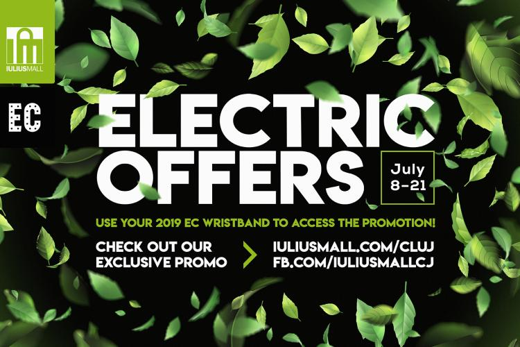 Ridică-ți brățara Electric Castle din Iulius Mall și bucură-te de ofertele speciale