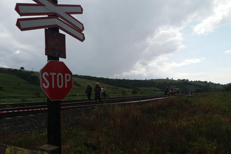 Accident feroviar mortal la Gârbău. Doua persoane au decedat FOTO
