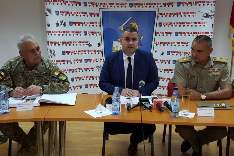 Ministrul Apărării la Cluj: 1.600 de militari au pensie peste 10.000 de lei - VIDEO