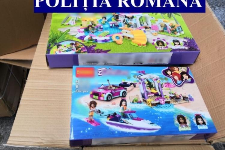 Jucării contrafăcute în valoare de aproape jumătate de milion de lei, confiscate de polițiști. Se îndreptau spre Cluj FOTO