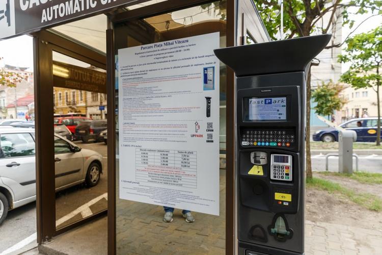 Noi parcometre în Parkingurile din Piața Unirii și Piața Mihai Viteazu. Se poate plăti și cu cardul
