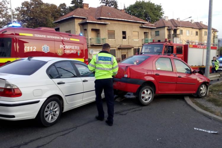 Accident pe Calea Turzii. S-au lovit în coloană - FOTO