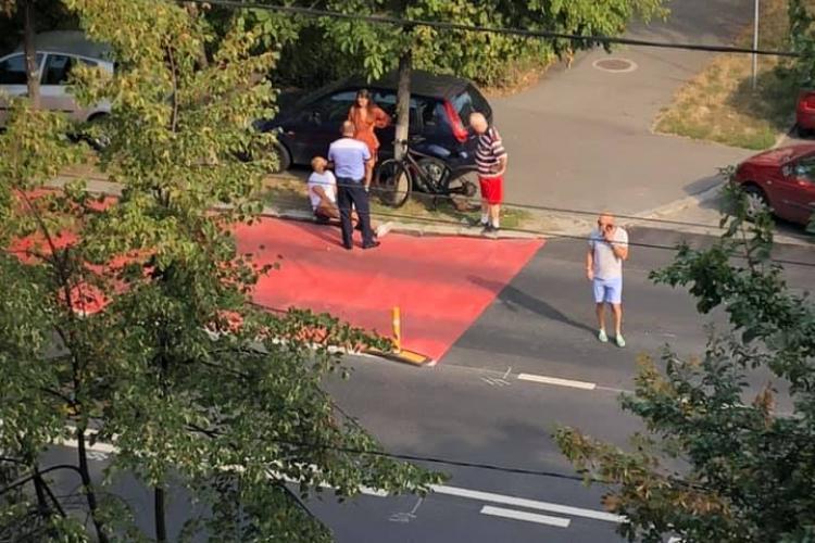 Biciclist accidentat de un șofer de aproape 70 de ani, pe Titulescu FOTO