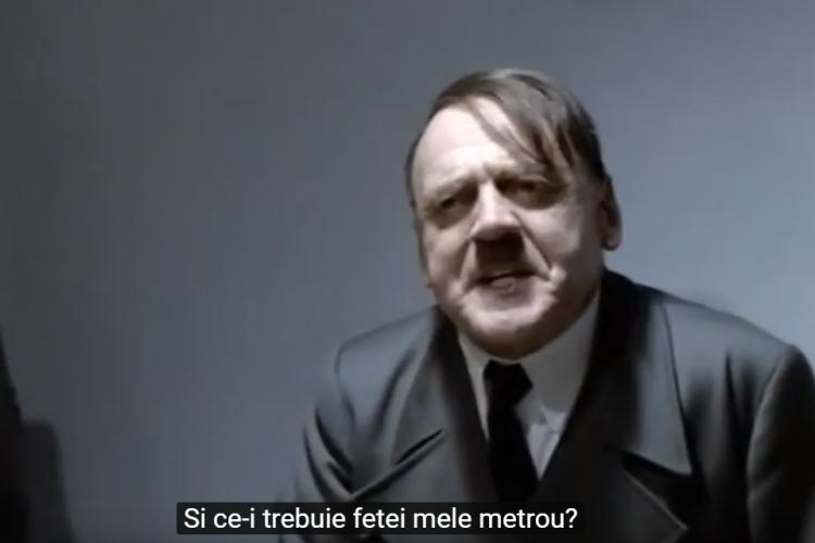 Hitler cauta chirie în Cluj. Ce reacție are când i se spune că prețul e mare pentru că va fi și metrou - VIDEO
