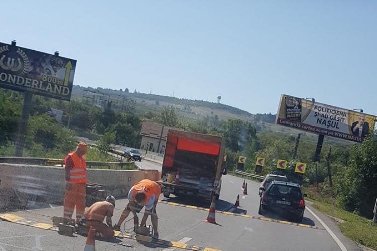 Apar limitatoare de viteză pe Calea Turzii. Adio liniuțe - FOTO
