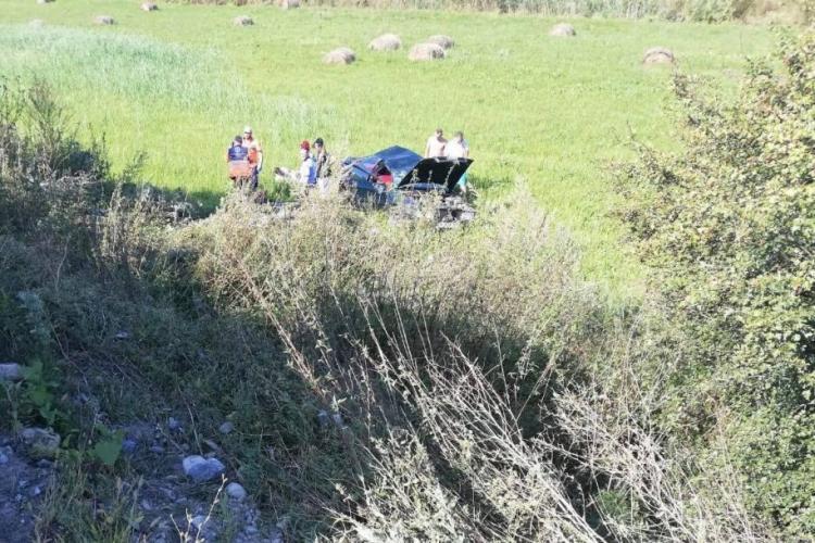 Accident cu trei victime pe un drum din Cluj FOTO