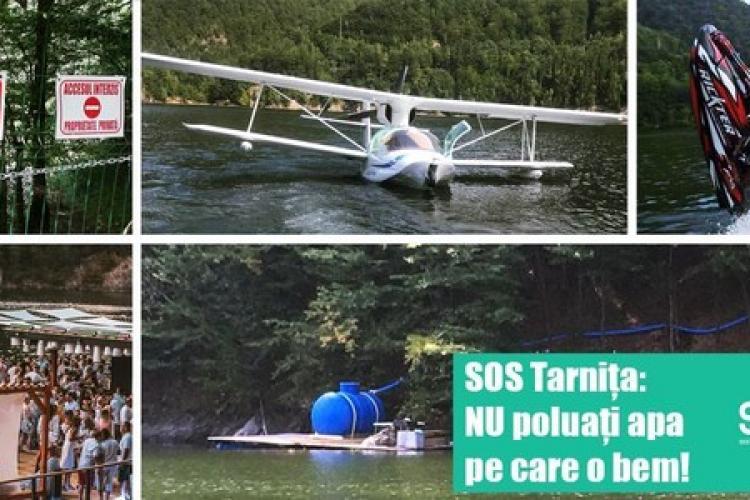 SOS Tarnița: NU poluați apa pe care o bem! Unii au și hidroavion pe lac