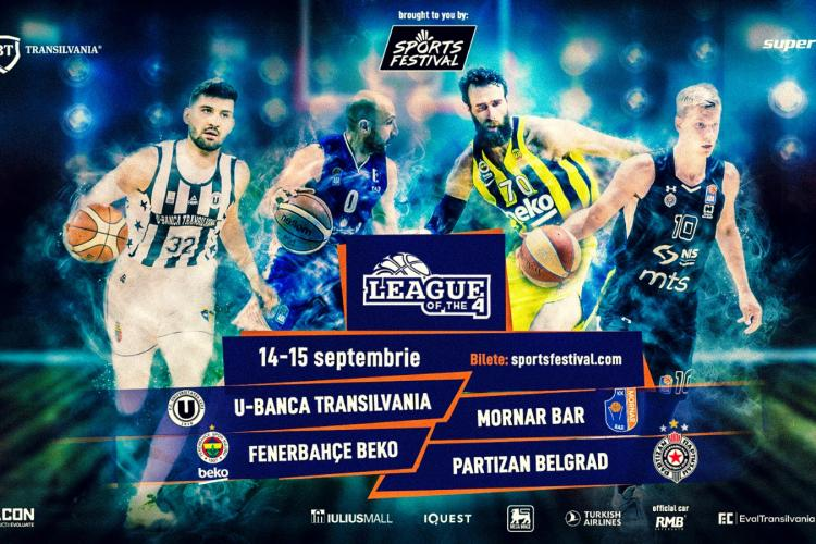 Vedetele Fenerbahce Beko vin la Cluj, la turneul League of the 4