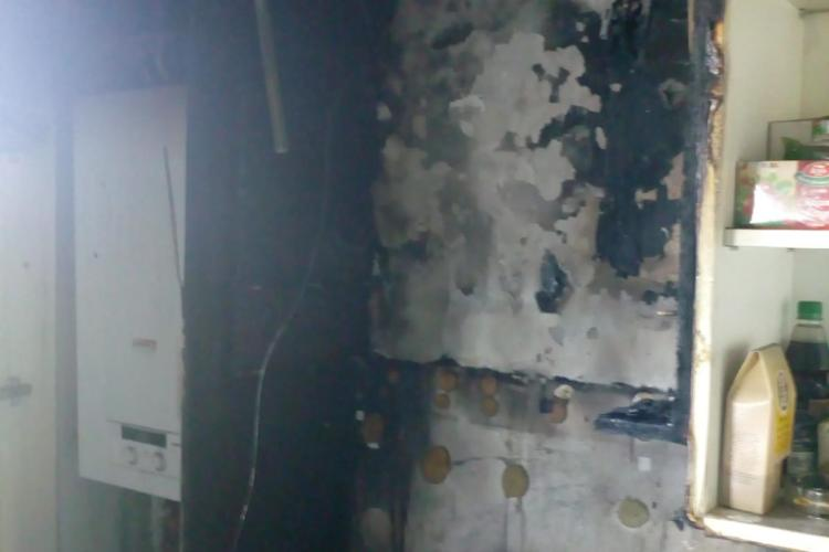 Incendiu la un apartament din Florești, pe strada Stadionului - FOTO