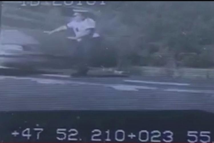 Polițist spulberat în Maramureș de un șofer beat - VIDEO LIVE