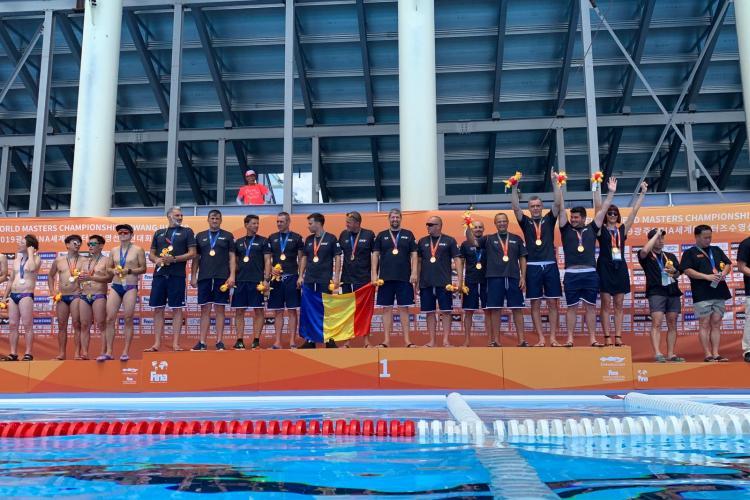 Poloiștii de la Politehnica Cluj au câștigat medalia de aur la Campionatul Mondial Masters din Coreea de Sud - FOTO
