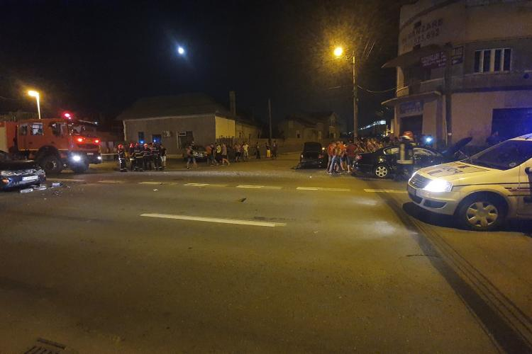 Accident cu patru mașini în Turda, pe strada Petru Rares