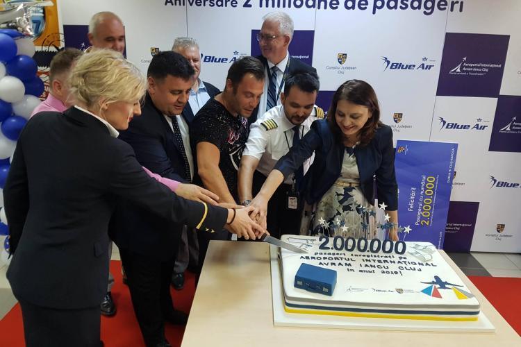 """Aeroportul Internațional """"Avram Iancu"""" din Cluj a ajuns deja la două milioane de pasageri în acest an"""