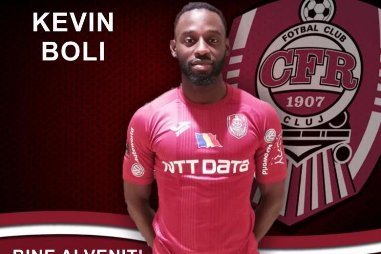 CFR Cluj anunță un nou transfer! Kevin Boli revine în Gruia
