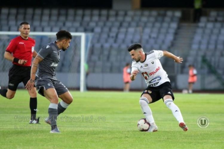 U Cluj vrea victoria în meciul cu Metaloglobus. Se joacă în deplasare fără o parte din lot