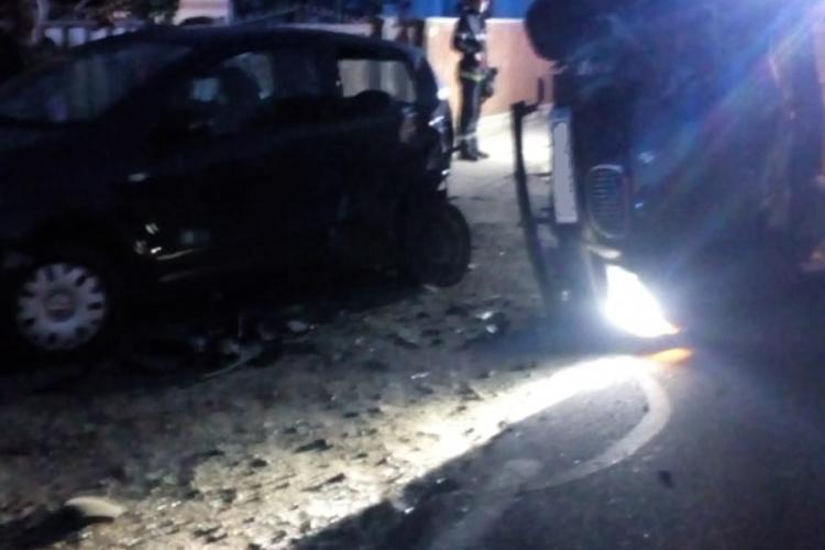 Accident cu trei mașini în comuna Mihai Viteazu - FOTO