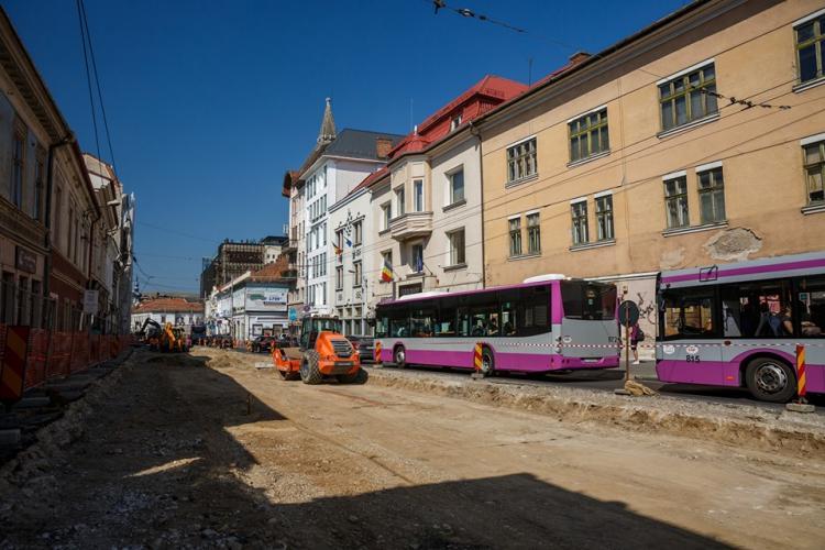 Care este stadiul lucrărilor la strada Regele Ferdinand. Când se termină lucrările FOTO