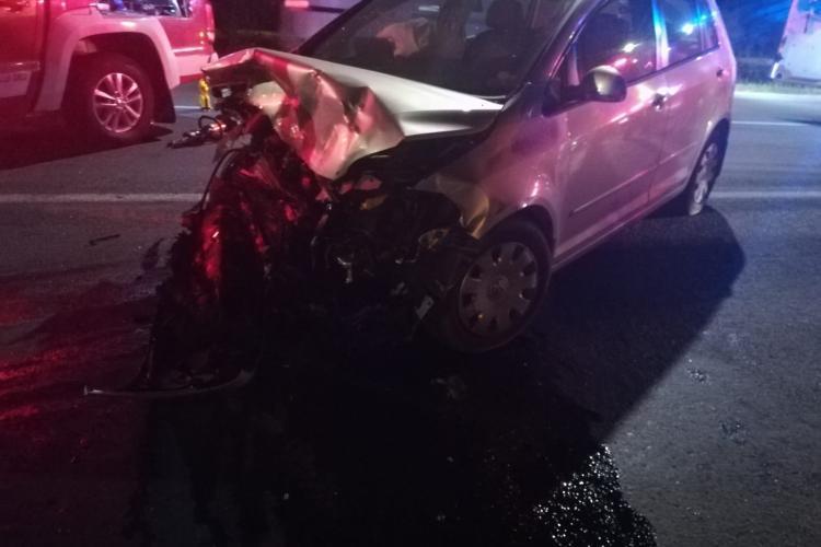 Accident cu cinci răniți la Dej, pe strada Vâlcele - FOTO