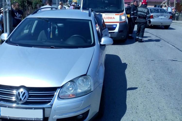 Femeie gravidă implicată într-un accident la Cășeiu, lângă Dej - FOTO