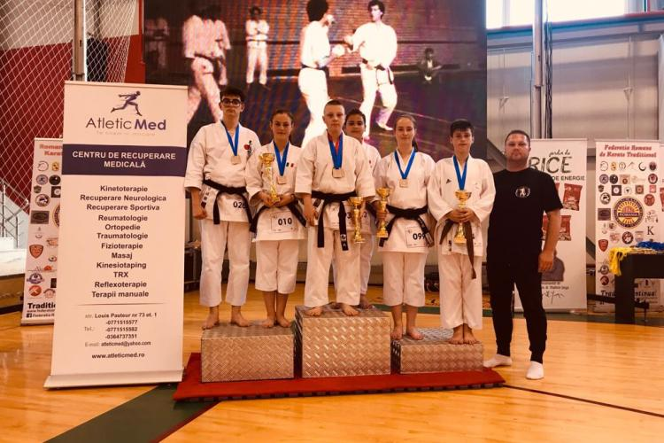 Karatiştii de la Clubul Voința Cluj au avut rezultate bune la Campionatul Național de Karate Tradițional Fudokan