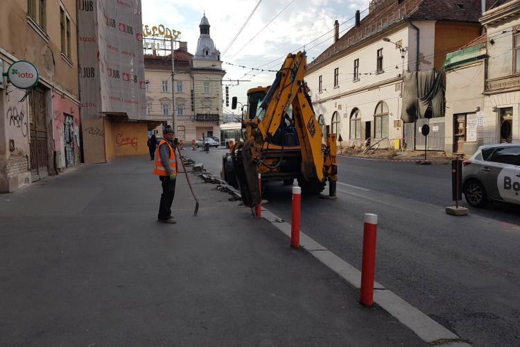 Se extinde șantierul pe Regele Ferdinand! Traficul s-a mutat - FOTO