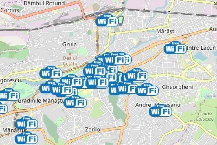 Primăria Cluj-Napoca anunță 18 noi locații de wifi gratuit în oraș