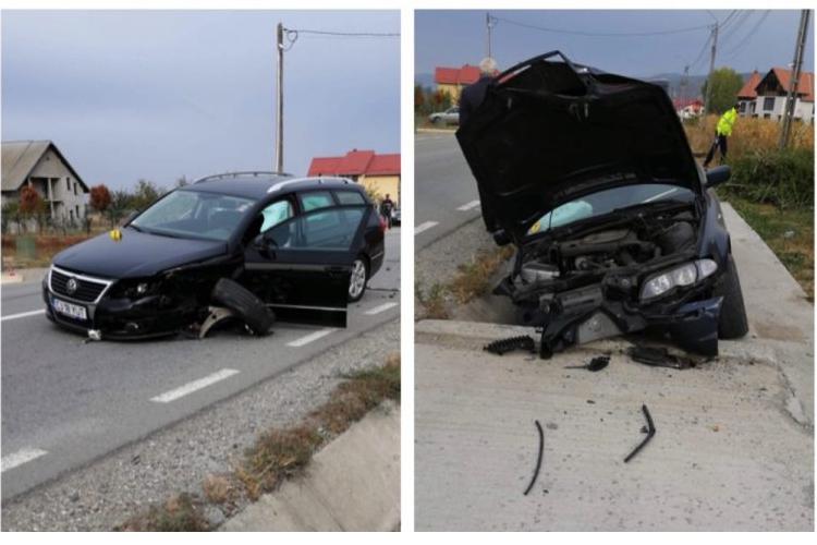 Accident între Urișor și Cășeiu surprins de o cameră de supraveghere - VIDEO