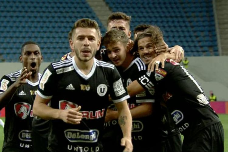 U Cluj a învins FC U Craiova 3-2 și merge mai departe în Cupa României