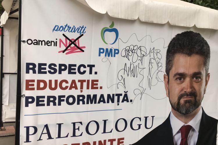 Cortul PMP Cluj a fost vandalizat din nou