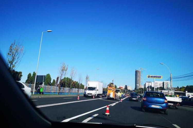 Se reface marcajul rutier către Brico, din Florești. Ce spune conducerea CNAIR Cluj - FOTO