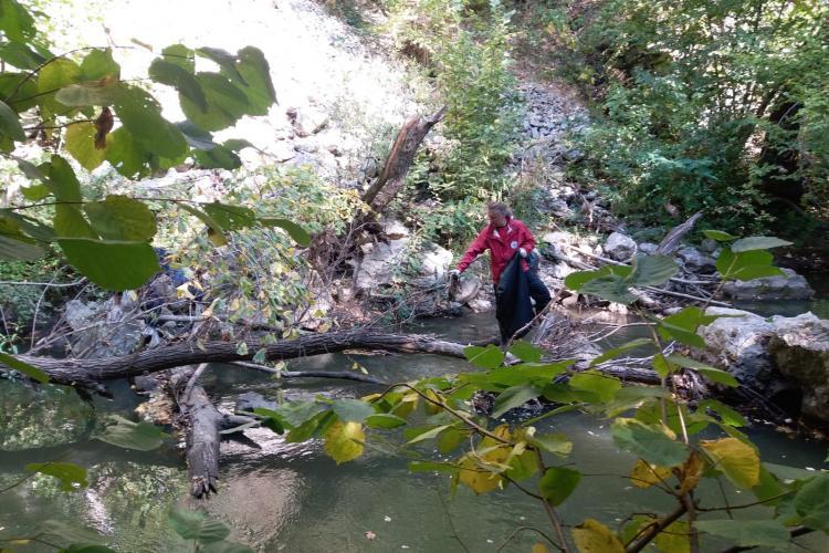 Acțiune de ecologizare în Cheile Turzii - FOTO