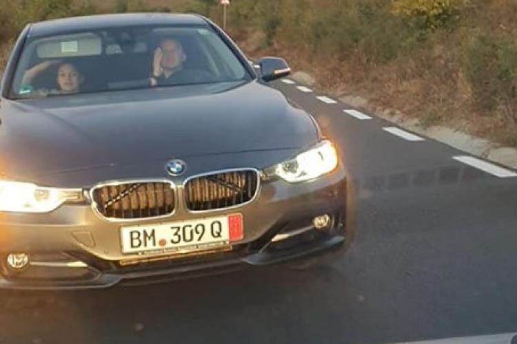 Scandal pe centura Florești! Un BMW -ist a uitat că este pe sens unic și a sărit la bătaie - VIDEO