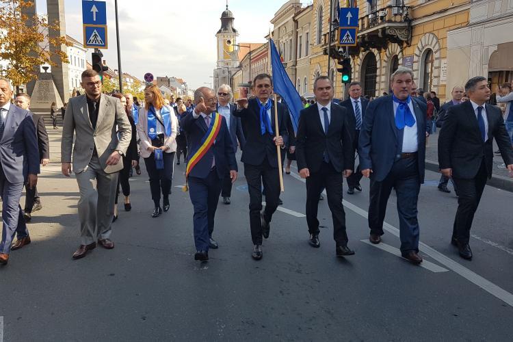 UBB Cluj și liderii importanți ai Clujului, la marșul universităților - VIDEO