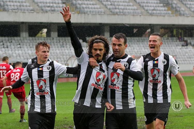 U Cluj a pierdut cu Dunărea Călărași, 3-2. Nu mai știm juca fotbal