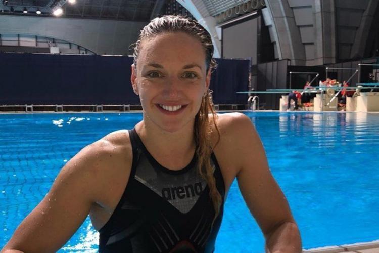 Campioana olimpica Hosszu Katinka a dat startul unui maraton de 24 de ore de înot la Cluj