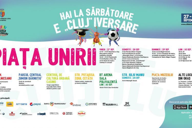 Încep Zilele Clujului 2019! PROGRAMUL festivalului care ia startul vineri, 27 septembrie