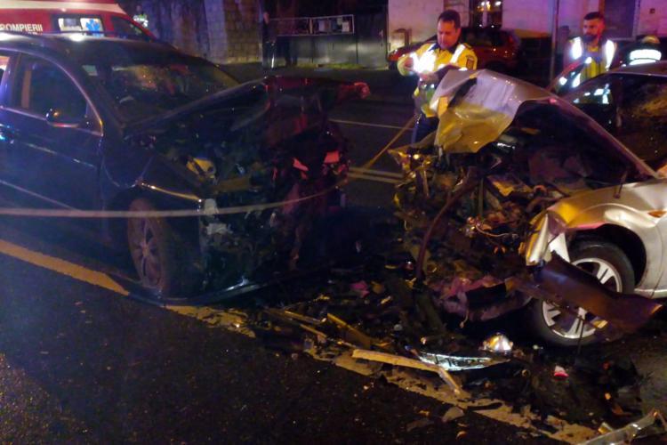 Accident pe Calea Turzii la intersecție cu strada Brașov - FOTO