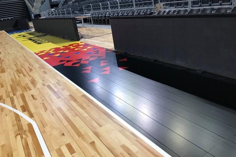 BT Arena din Cluj-Napoca are parchet modular la fel ca cel din NBA