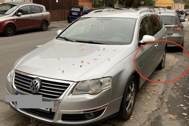 Vandalism în serie, pe o stradă din Cluj! Localnicii se trezesc săptămânal cu roțile mașinilor sparte FOTO