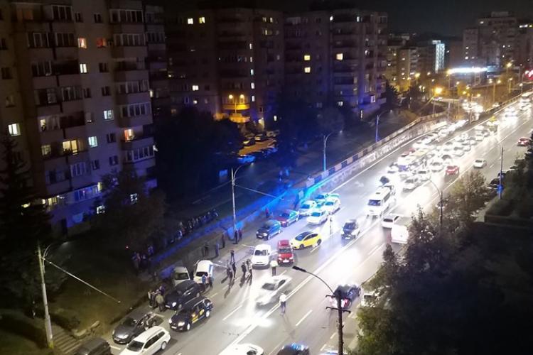 Accident cu șapte mașini pe Aurel Vlaicu, în Mărăști - FOTO