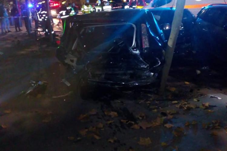 Prăpăd pe strada Horea! Accident cu multiple victime și patru mașini implicate FOTO