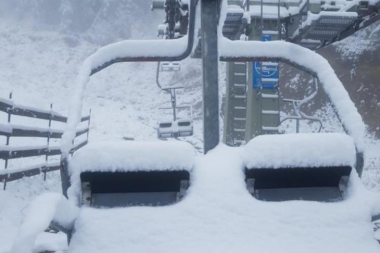 Cluj: Ninge la munte de la Mărișel la Buscat - FOTO