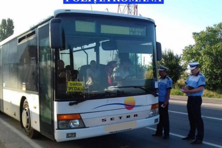 CLUJ: Razie de amploare la transportatorii de persoane sau de marfă