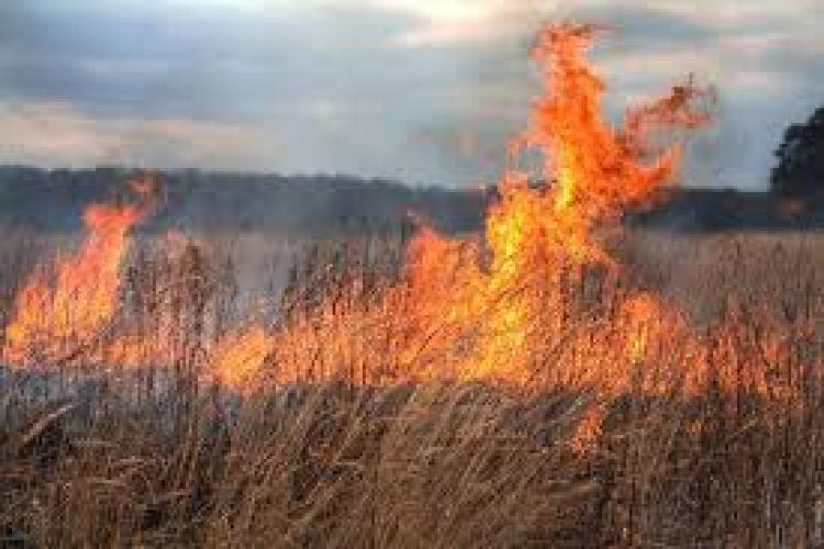 O femeie a murit la Cluj, surprinsă de un incendiu de vegetație pe care l-a stârnit