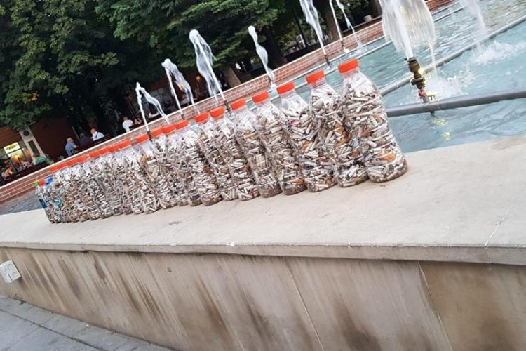 Cluj: Hai la strâns chiștoace. Campanie de curățare a orașului - FOTO