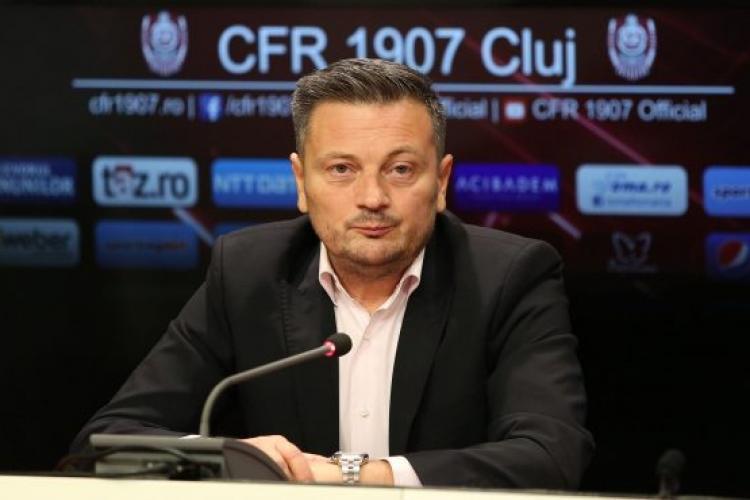 Daniel Stanciu este directorul general al U Cluj. Falub e sincer: Nu va fi primit bine de suporteri