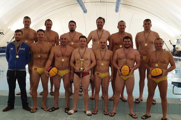 Echipa de Polo pe Apa Masters de la Politehnica Cluj, campioană națională - FOTO