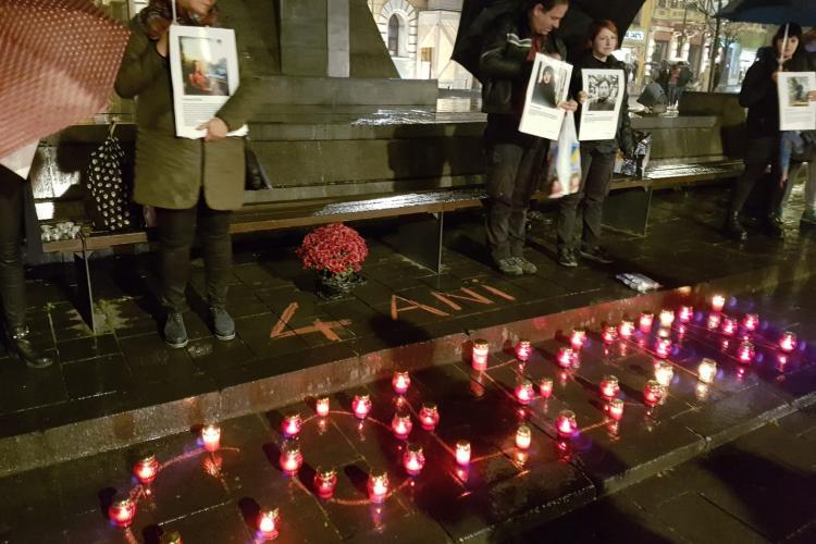Clujenii au cinstit memoria victimelor de la Colectiv - VIDEO ȘI FOTO