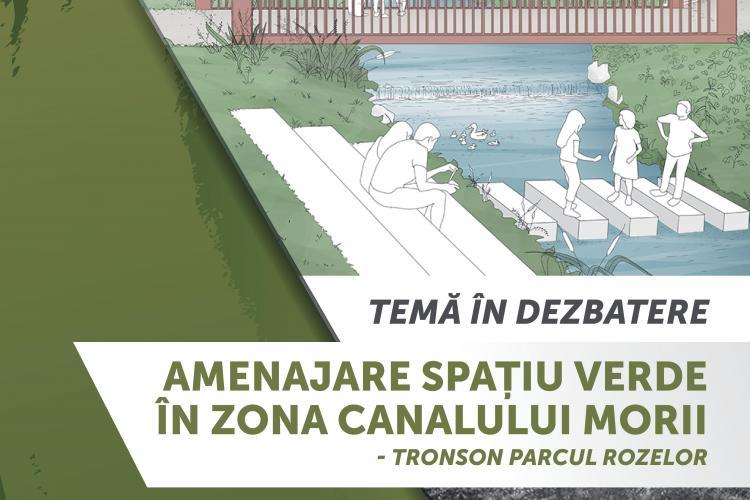 Centrul de Inovare și Imaginație Civică (CIIC) anunță dezbaterea privind Amenajarea spațiului verde în zona Canalului Morii – tronson Parcul Rozelor